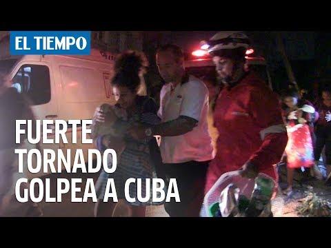 Potente tornado sacudió La Habana   EL TIEMPO