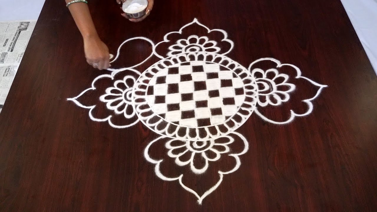 Rangoli without dots kolam rangoli without dots easy for Dots design apartment 8