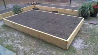 How To Build Raised Bed Garden Vegetable Container For Apartment