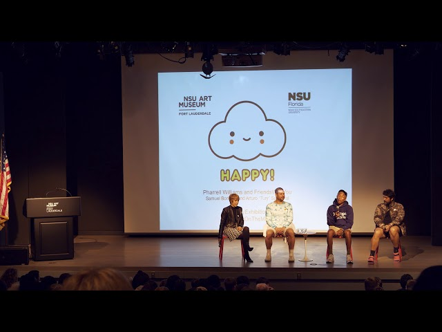 Pharrell Williams & FriendsWithYou Visit NSU Art Museum
