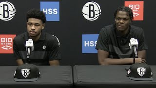 Cam Thomas and Day'Ron Sharpe Media Introduction