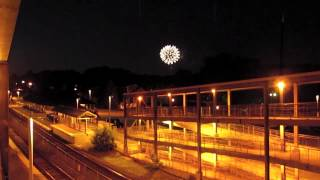 Fireworks at Canton Junction +Amtrak 65 w/Duel P42s!
