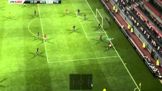 PES 2013 Manchester United Vs Barcelona PC Gameplay