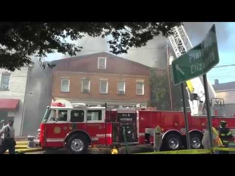 DUNELLEN NEW JERSEY 3RD ALARM STRUCTURE FIRE 9/3/15 TWO BUILDINGS FULLY INVOLVED