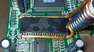 How to remove SMD components without hot air gun