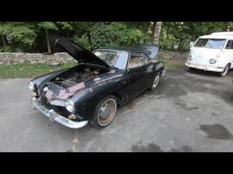 WILL IT RUN ? Sitting for 30 years , first start in the Ghia : Sweet 67 Vw Bug stops by & M1 too.