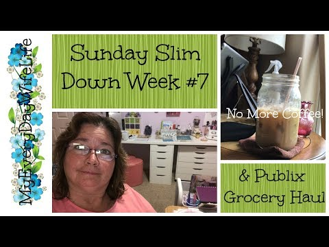 Sunday Slim Down Week #7 || Publix Grocery Haul