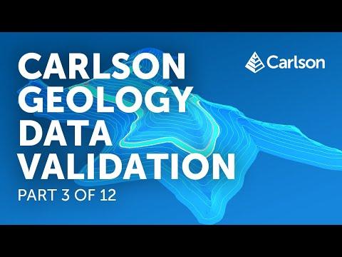 Carlson Geology   Data Validation (Part 3/12)
