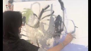 "Marlies Wagner´s Bild ""analoge Confusion"" am Lienzer Kunstadventkalender 2020"