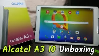 Alcatel Tablet : New 2018 Alcatel A3 10.1inch 32GB+3GB with Wi-Fi+4G Tablet (White+Grey)