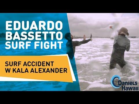 Eduardo Bassetto Surf fight surf Accident w Kala Alexander, Hawaii, Makaha Beach, Lifeguard CPR