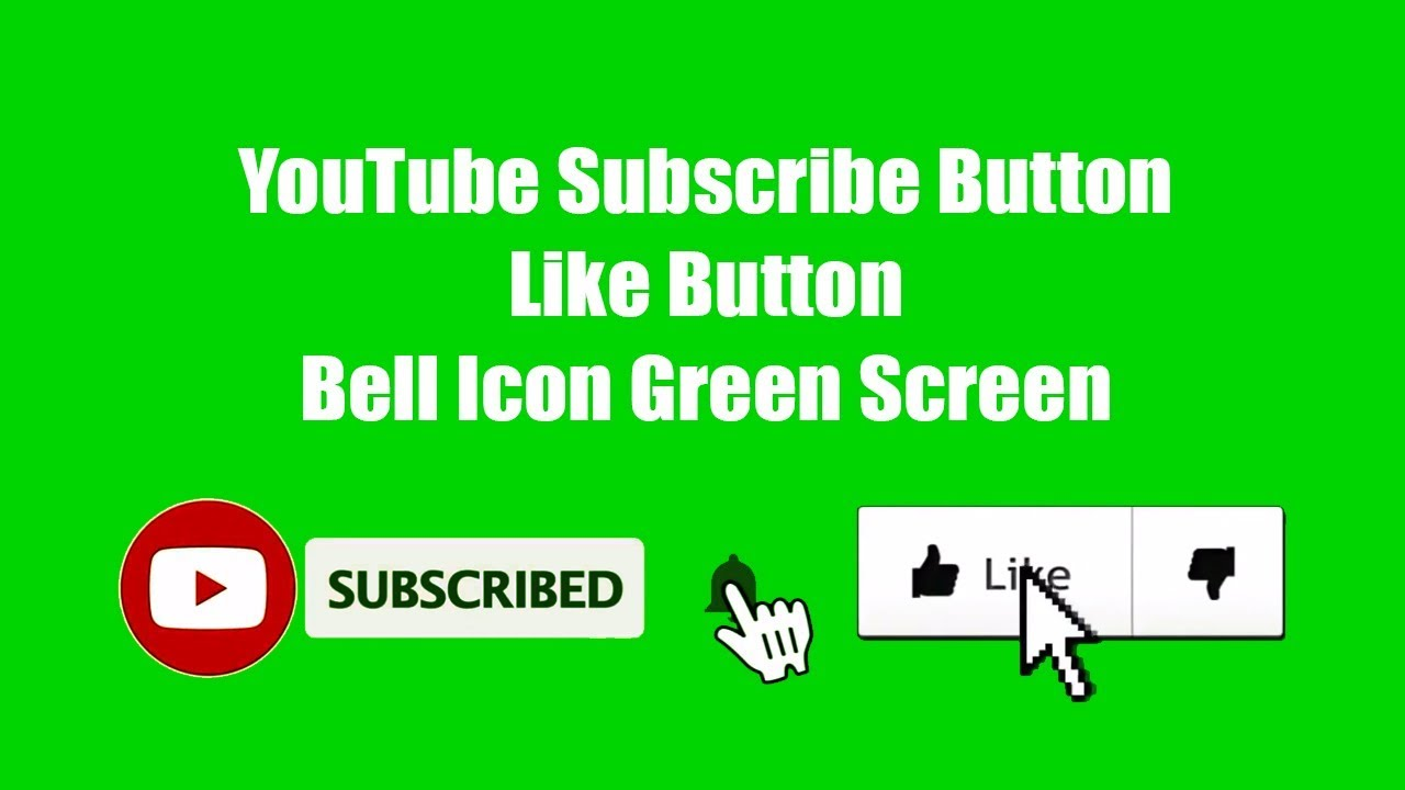 Youtube Subscribe Button Like Button Bell Icon Green Screen Creative Tutorials Youtube Let visitors like and dislike content on your website! youtube subscribe button like button bell icon green screen creative tutorials
