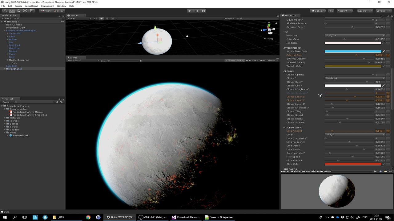 Tutorial 4 - Blueprints Overview - Procedural Planets (Unity Asset)