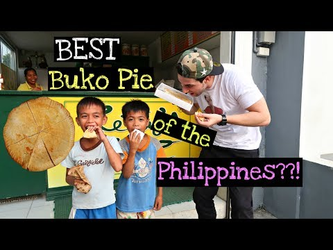 BEST BUKO PIE of the Philippines?!! | Kain Tayo ft. CUTE Street Children 😍