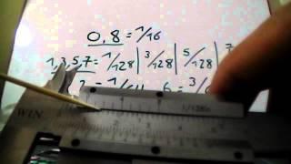 Manejo del Calibrador Vernier o Pie de Rey (Vernier caliper handling)