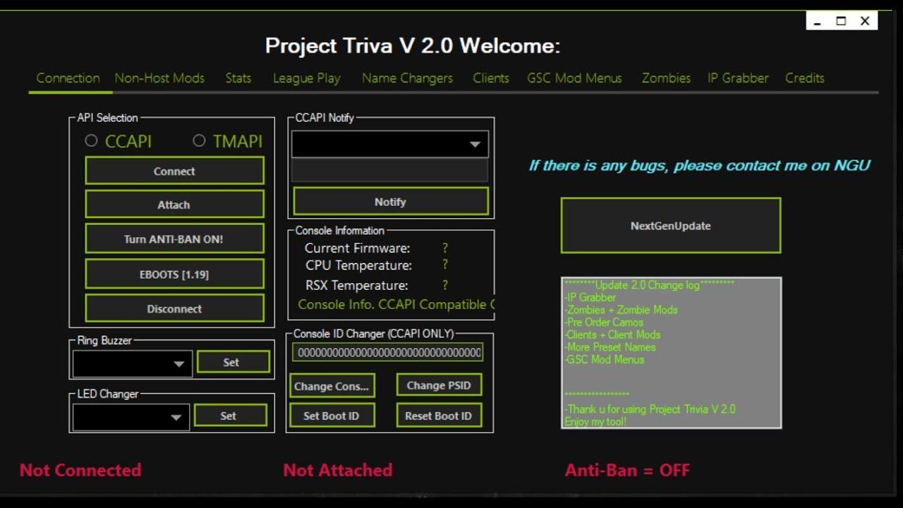 [CEX / DEX] BO2 RTM Tool Project Trivia V2 W/Download !