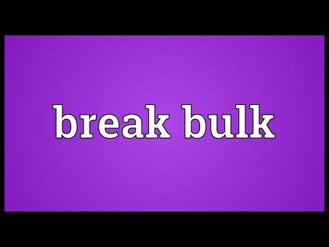 Break bulk Meaning