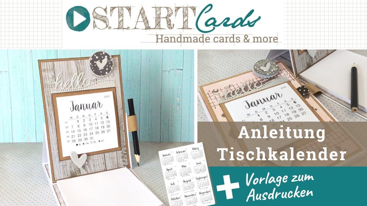 Tischkalender Mit Notizblock Anleitung