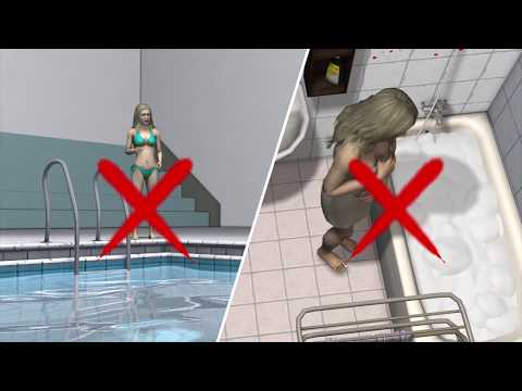 Woman allergic to water must avoid swimming, cannot cry
