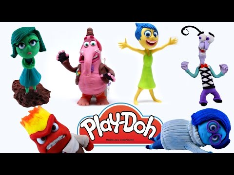 Thumbnail: 6 INSIDE OUT Characters! Play Doh Stop Motion Animación Disgust Anger Joy Bing Bong Fear Sadness