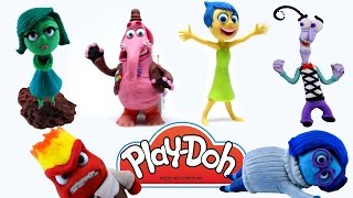 6 INSIDE OUT Characters! Play Doh Stop Motion Animación Disgust Anger Joy Bing Bong Fear Sadness