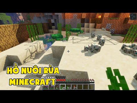 Hồ Nuôi Rùa Của Quân - Minecraft Sinh Tồn #46