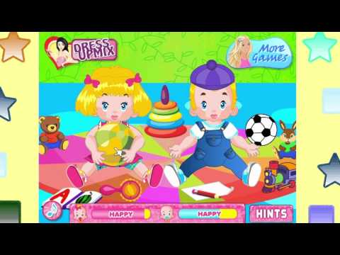 Barbie Twins Babysitter Games - Barbie Games - Baby Game