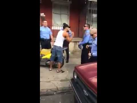 Philadelphia Police Beat Hispanic Man