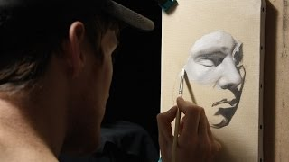 Time lapse Painting #2 : Oil paint in grisaille - Peinture à l