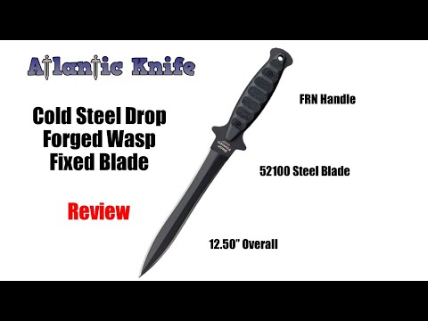 Cold Steel Drop Forged Wasp Fixed Blade Knife Review | Atlantic Knife Reviews 2020