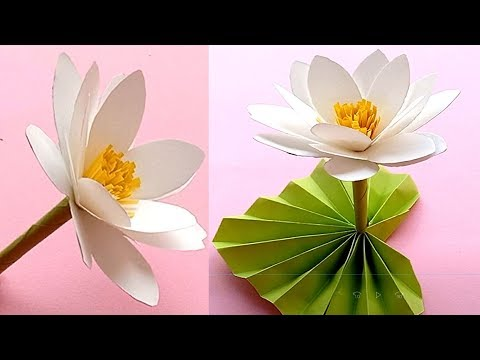 How to make Paper Water Lily // Handmade easy Water Lily Tutorial // Craft Tutorial
