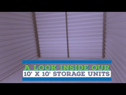 Look inside a (10' x 10') Climate Controlled Storage Unit