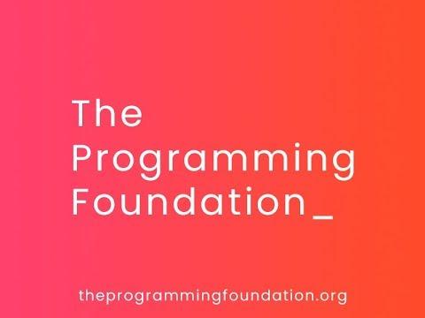 The Programming Foundation - An Introduction by Subhajeet Mukherjee -  YouTube