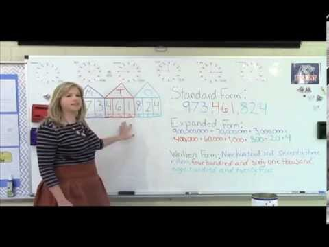 4th grade mathematics lesson one place value youtube. Black Bedroom Furniture Sets. Home Design Ideas