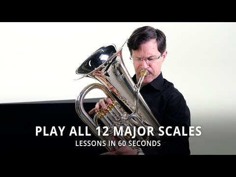 Lessons In 60 Seconds | Play All 12 Major Scales On Euphonium