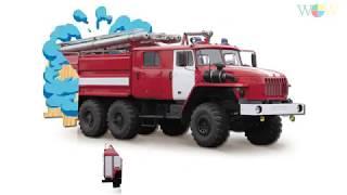 Car for kids, Fire truck, Ambulance, Police car, School Bus   Kids learn