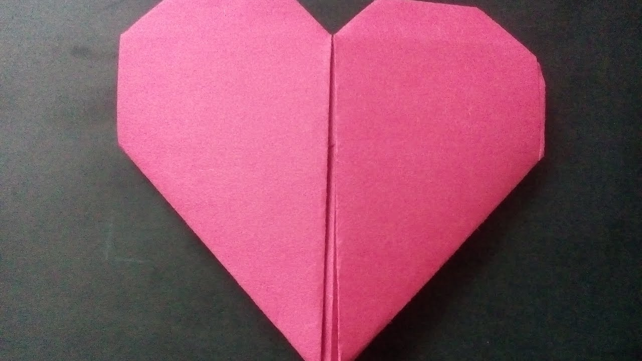 how to make a paper heart origami youtube. Black Bedroom Furniture Sets. Home Design Ideas