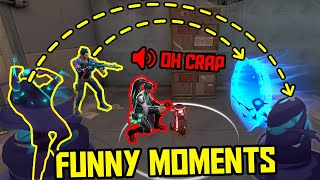 FUNNIEST MOMENTS IN VALΟRANT #55...
