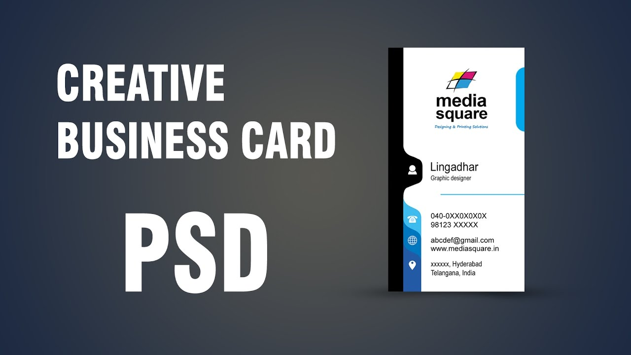 how to Create a vertical business card in Photoshop CC - YouTube