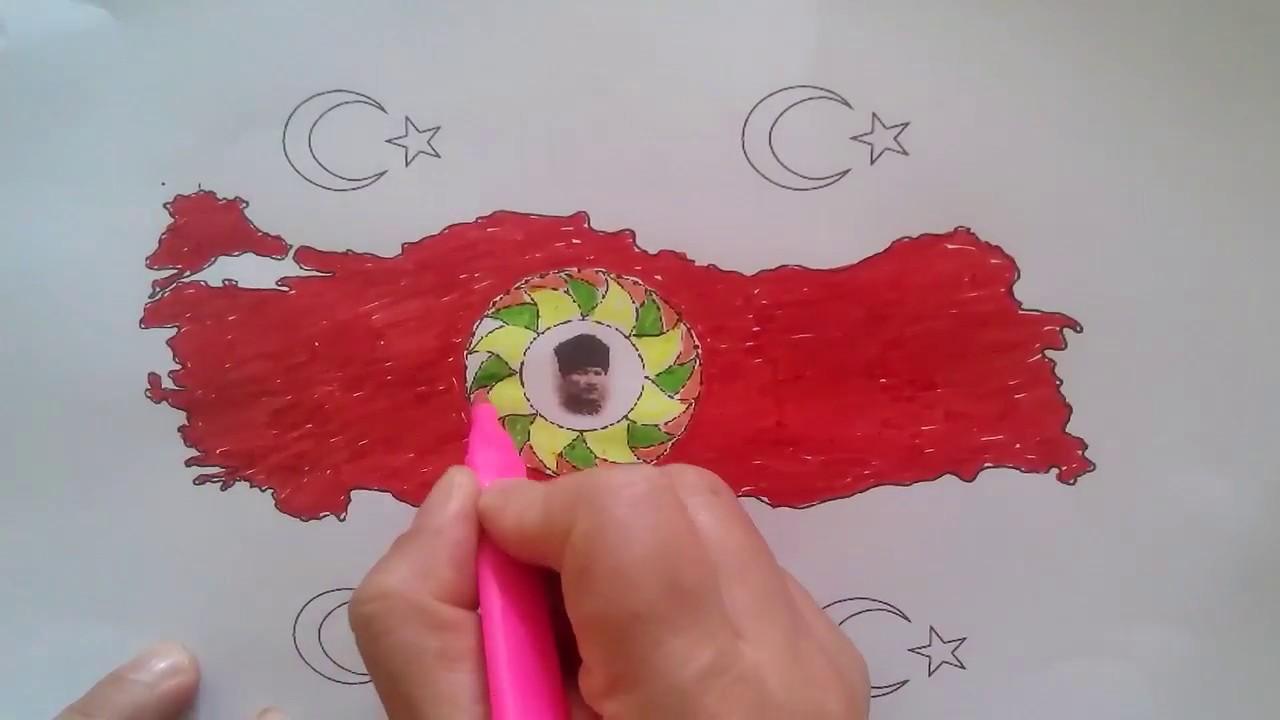 Türkiye Haritasi Boyama Youtube