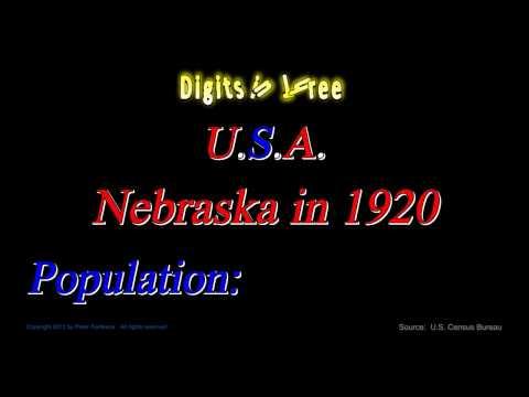 Nebraska Population in 1920 - Digits in Three