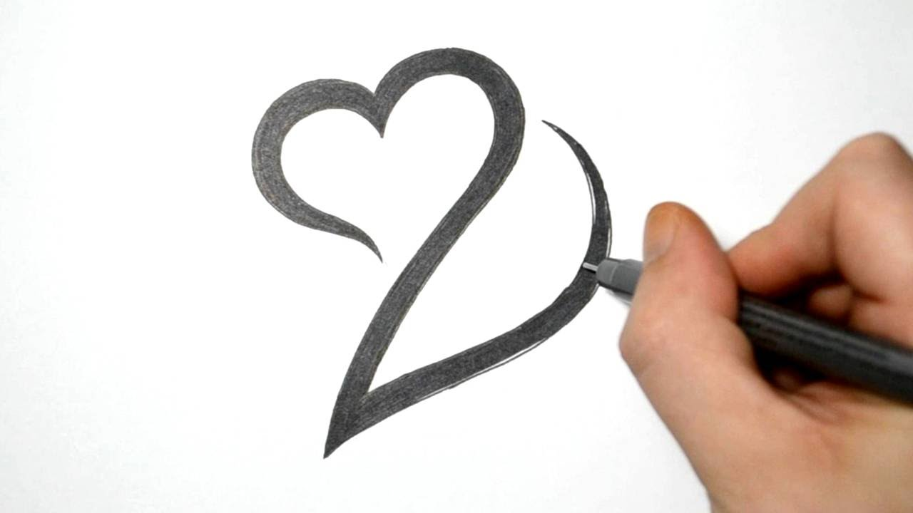 Combining Letter D With Heart Simple Tribal Design