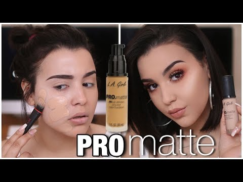 Download Youtube: NEW L.A. GIRL PRO MATTE HD LONG WEAR FOUNDATION! FIRST IMPRESSION + REVIEW   MakeupByAmarie