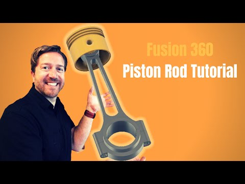 Fusion 360 - Ultimate Beginner Tutorial - Piston Rod Assembly