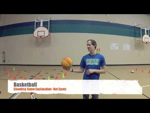 PE Games - Basketball Shooting Game - Hot Spots