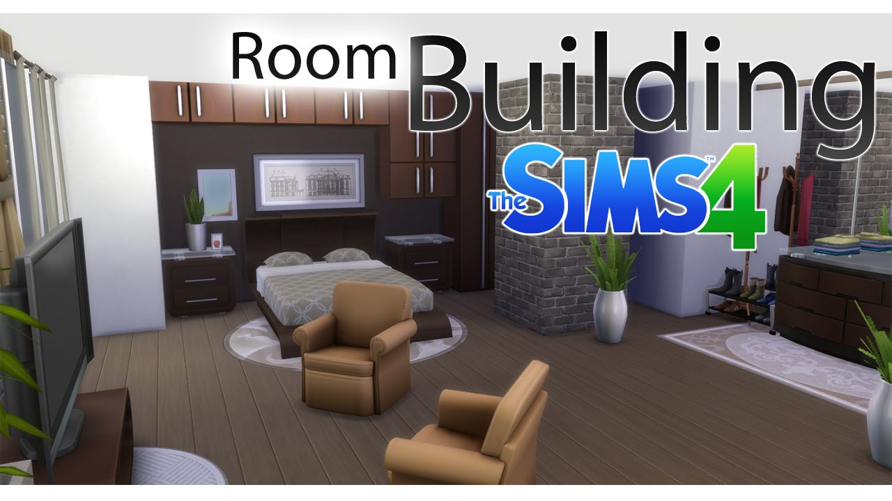 The Sims 4 #RoomBuildingChallenge 1 - Brick and Paint