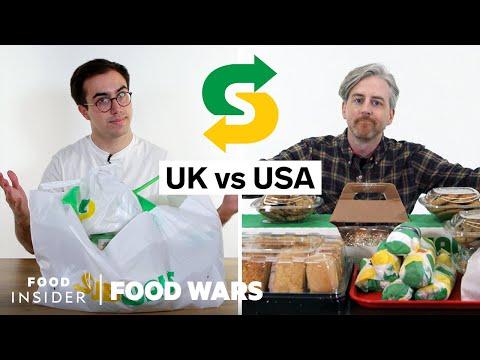 US vs UK Subway | Food Wars