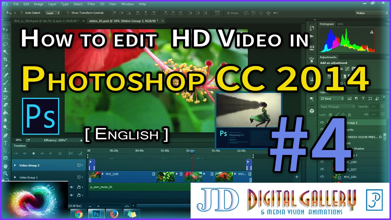 Adobe Photoshop Cc 2014  How To Edit Hd Video In Photoshop #4 [english]
