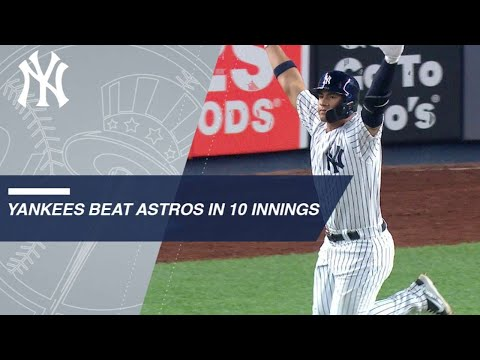 Gardner, Gleyber lead Yankees to walk-off victory in the 10th
