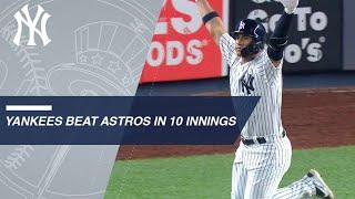 Gardner, Gleyber lead Yankees to walk-off victory in the 10th